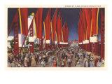 Avenue of Flags  Chicago World's Fair