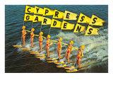 Water Skiers  Cypress Gardens  Florida