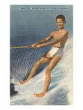 Barefoot Water Skier  Cypress Gardens  Florida