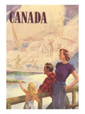 Canada Family on Bridge