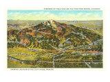 Panorama of Pike's Peak Region  Colorado