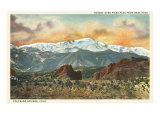 Sunset over Pike's Peak  Colorado