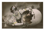 Woman with Rabbit in Eggshell