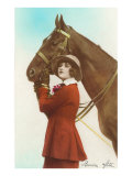 Bonne Fete  Girl with Horse