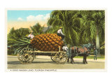 Giant Pineapple on Wagon  Florida