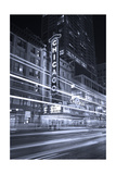 Chicago Theater Marquee In Black & White