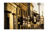 Facades In Golden Light  Old San Juan  Pr