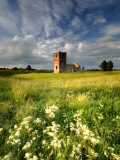 Knowlton Church  Dorset  UK  with Cloudy Sky  Summer 2007