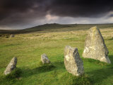 Merrivale Stone Row  Stormy Evening  Dartmoor Np  Devon  Uk September 2008