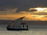 Fishing Boat at Dawn  Ramena Beach  Diego Suarez in North Madagascar
