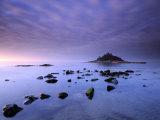 St Michael's Mount at Sunrise  from Marazion Beach  Cornwall  Uk November 2008
