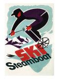 Ski Steamboat Springs  Co - Vintage Travel Poster  c2008