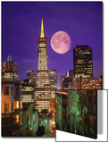 Moon Over Transamerica Building  San Francisco  CA