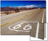 Route 66 Sign on Highway Near Amboy  Mojave Desert  California