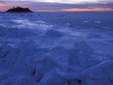 Sea Ice in Buzzards Bay  Cape Cod  Massachusetts  USA