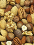 Nuts, Pecan, Walnut, Hazel and Almond Papier Photo par Wally Eberhart