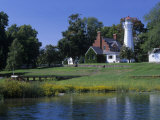 Port Sanilac Lighthouse on Lake Huron  Michigan  USA