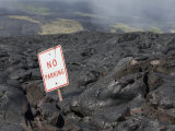 A Road Consumed by Lava on Mount Kilauea in Hawaii