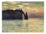 Sunset at Etretat  1883