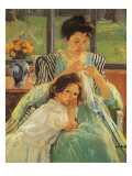 Young Mother Sewing  1900