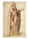 Philosopher Holds Skull  1502