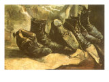 Line of Old Boots  1886