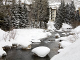 Gore Creek  Vail Ski Resort  Rocky Mountains  Colorado  United States of America  North America
