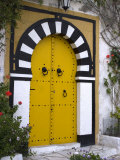 Door  Sidi Bou Said  Near Tunis  Tunisia  North Africa  Africa