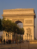 Arc De Triomphe at Dusk  Paris  France  Europe