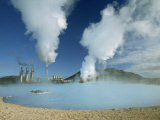 Geo-Thermal Power Plant in the Svartsengi Area  Svartsengi  Iceland  Polar Regions