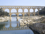 Roman Aqueduct  Pont Du Gard  UNESCO World Heritage Site  Languedoc  France  Europe