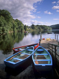 Boats and Lake  Pitlochry  Perth and Kinross  Central Scotland  Scotland  United Kingdom  Europe