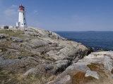 Lighthouse  Peggy's Cove  Nova Scotia  Canada  North America