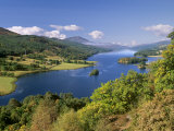 Queen's View  Famous Viewpoint over Loch Tummel  Near Pitlochry  Perth and Kinross  Scotland  UK
