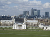 View over London from Greenwich  UNESCO World Heritage Site  Se10  England  United Kingdom  Europe