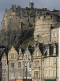 View of Edinburgh Castle from Grassmarket  Edinburgh  Lothian  Scotland  United Kingdom  Europe