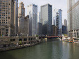 Chicago River and Wacker Drive  Chicago  Illinois  United States of America  North America