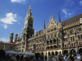 New City Hall  Marienplatz  Munich  Bavaria  Germany  Europe