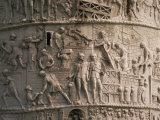 Detail of Trajan's Column  Rome  Lazio  Italy  Europe