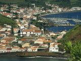 View from Monte De Guia of Horta  Faial  Azores  Portugal  Atlantic  Europe