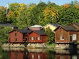 Fisherman's Cottages Beside the River  Porvoo  Finland  Scandinavia  Europe