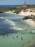 Bathurst Lighthouse  the Basin  Rottnest Island  Perth  Western Australia  Australia  Pacific