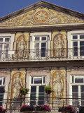 Chiado  Teramic Tile Pictures on House  Trindade  Lisbon  Portugal  Europe