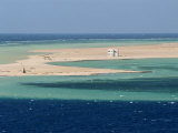 Lone House on Sand Spit  on the Approach to Safaga  Egypt  North Africa  Africa