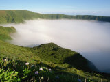 Cloud in Crater  Caldeira  Faial  Azores  Portugal  Europe