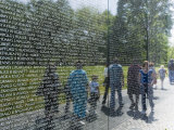 Vietnam Veterans Memorial Wall  Washington DC  USA