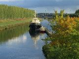 Waterway of the Saimaa Canal  Mustulo  Near Lappeenranta  Finland  Scandinavia  Europe