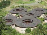 Hakka Tulou Round Earth Buildings  UNESCO World Heritage Site  Fujian Province  China