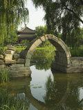 An Arched Bridge at Yuanmingyuan  Beijing  China