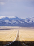 US Route 50  the Loneliest Road in America  Nevada  USA
